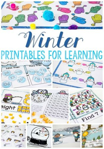 Free Winter Printables for Learning | Free printables, Math and Learning