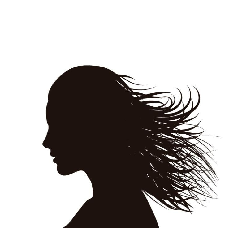 Long Hair Woman Side Face Silhouette Vector Free Vector Graphic