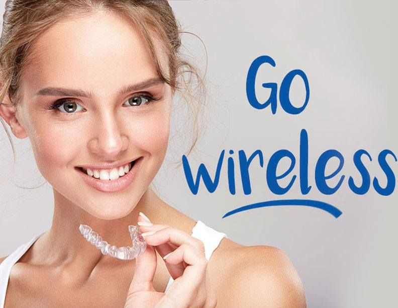 Clear aligners straighten your smile without a single