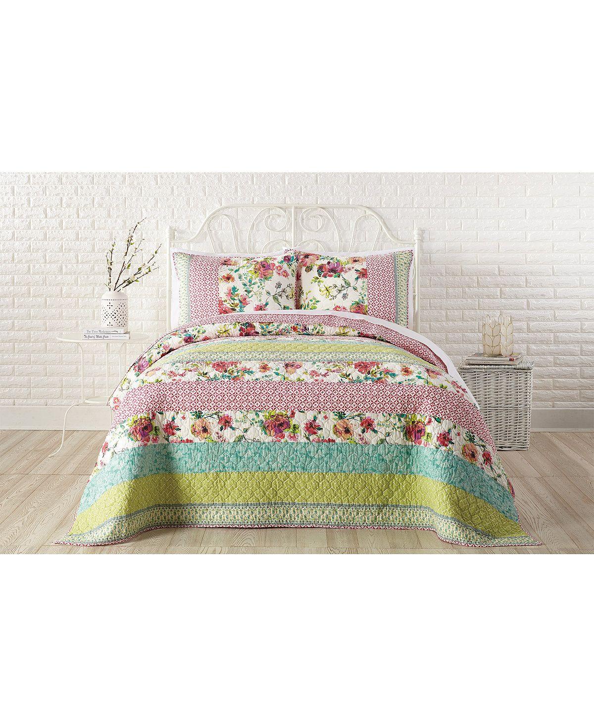 Boho Garden Cotton Full/Queen Quilt Queen quilt, Quilts