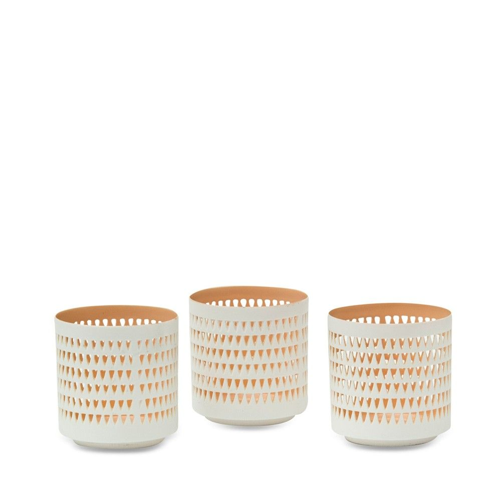 S/3 Peach Tealight - Me and My Trend - So beautiful & delicate!