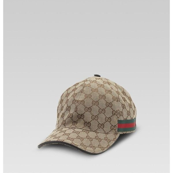 1d461c2d Gucci Original Gg Canvas Baseball Hat With Web (300 CAD) ❤ liked on Polyvore  featuring accessories, hats, adjustable hats, ball caps, baseball cap, ...