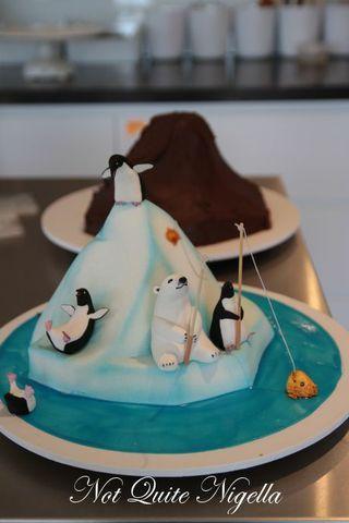 Santa North Pole Cake