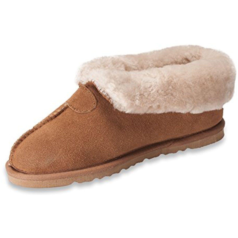 Womens Genuine Sheepskin Slipper Boots