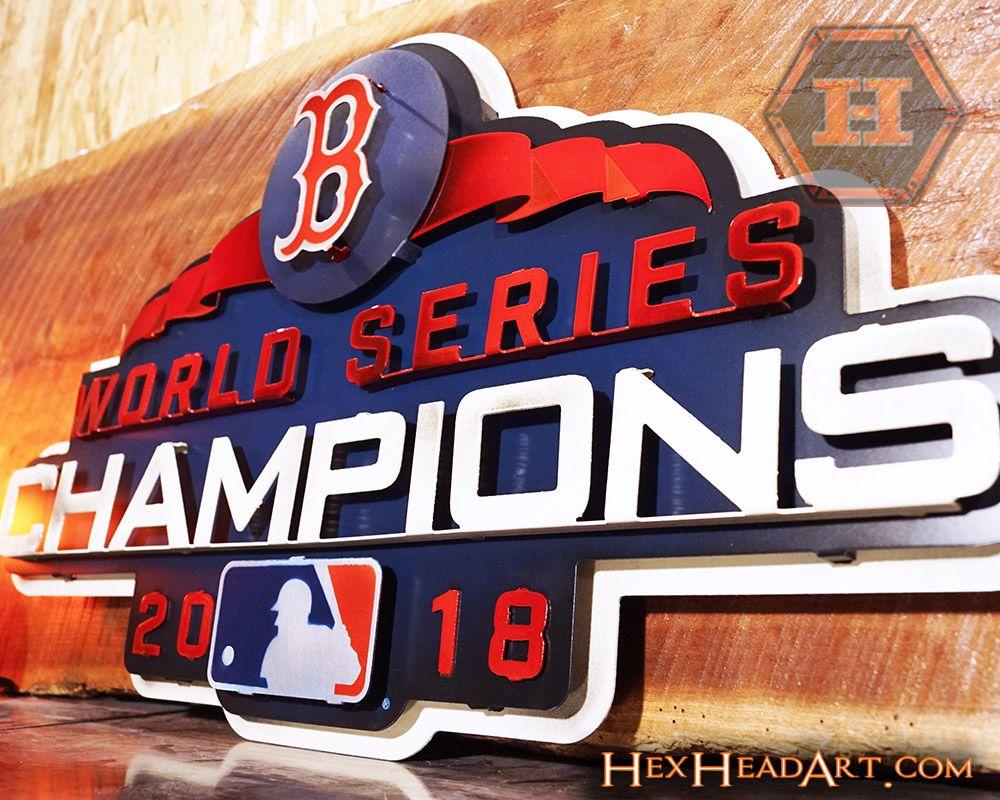 Boston Red Sox World Series Champions 3d Metal Artwork Red Sox World Series Red Sox Logo Boston Red Sox