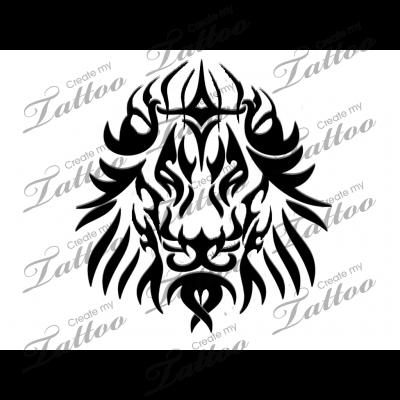 Marketplace Tattoo Tribal Lion 12065