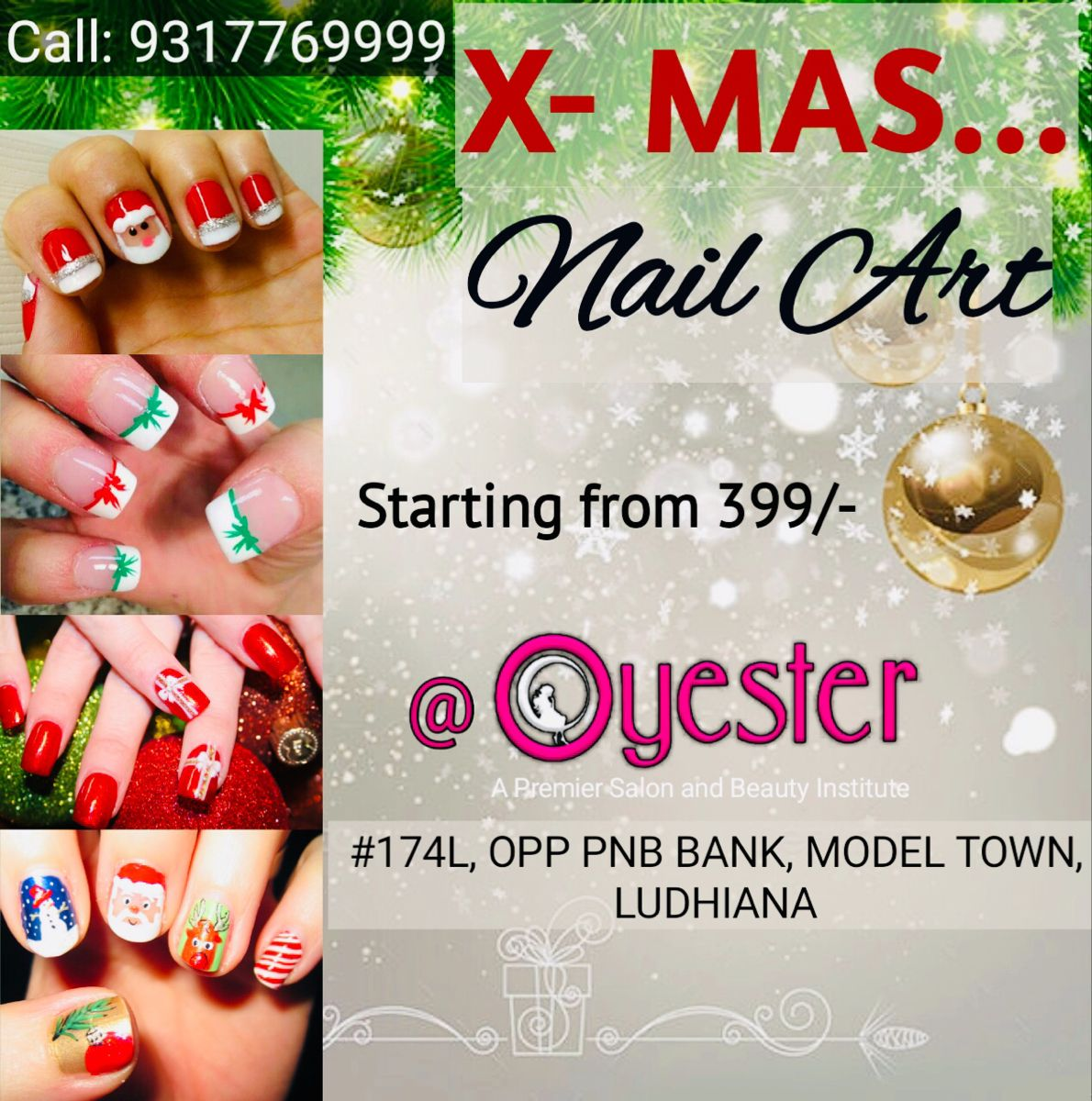 Christmas Offer on Nails!! The Nail Zone oyesterludhiana
