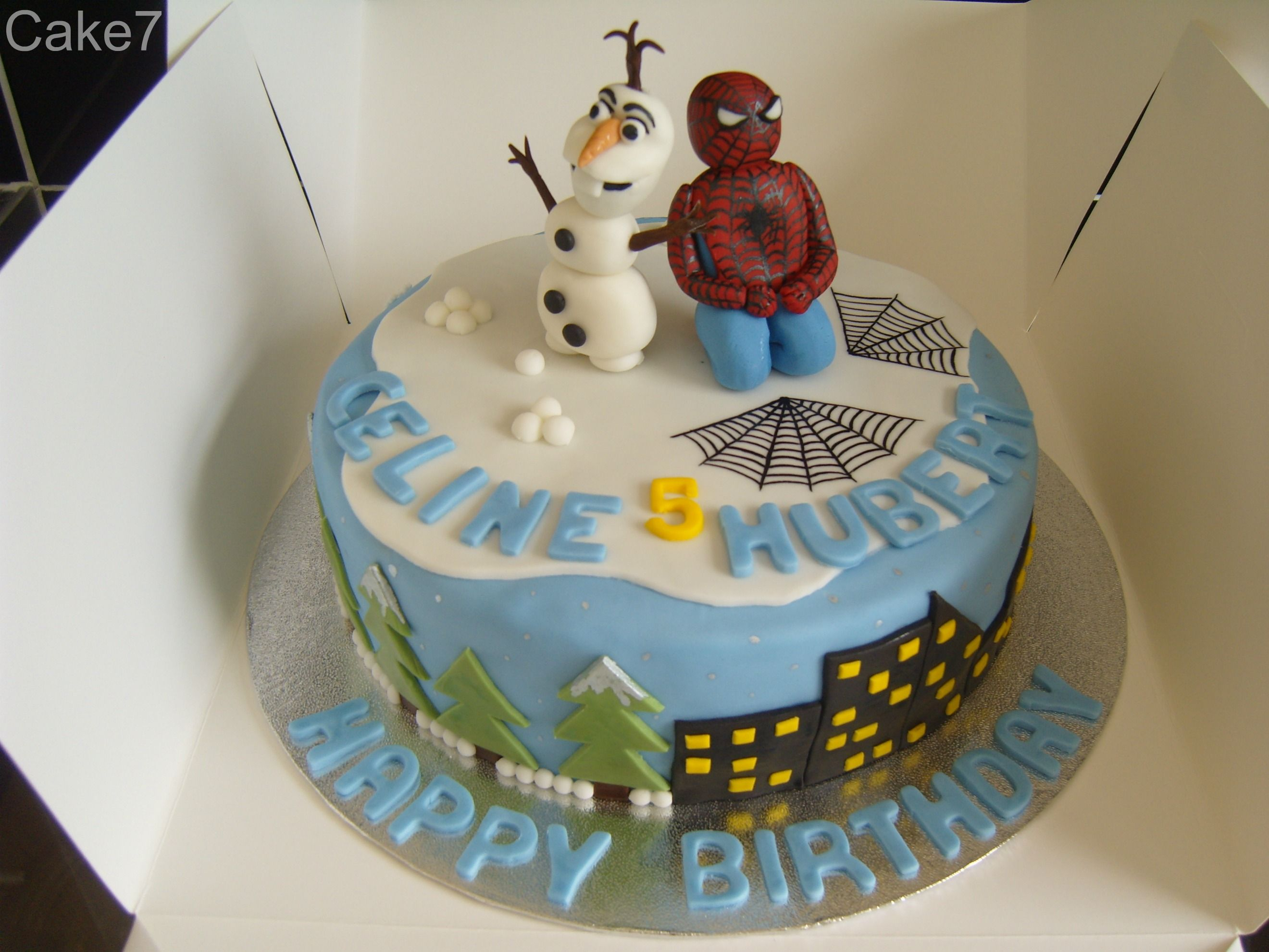 Olaf Spiderman cake Price from 30 wwwcakesevenwix