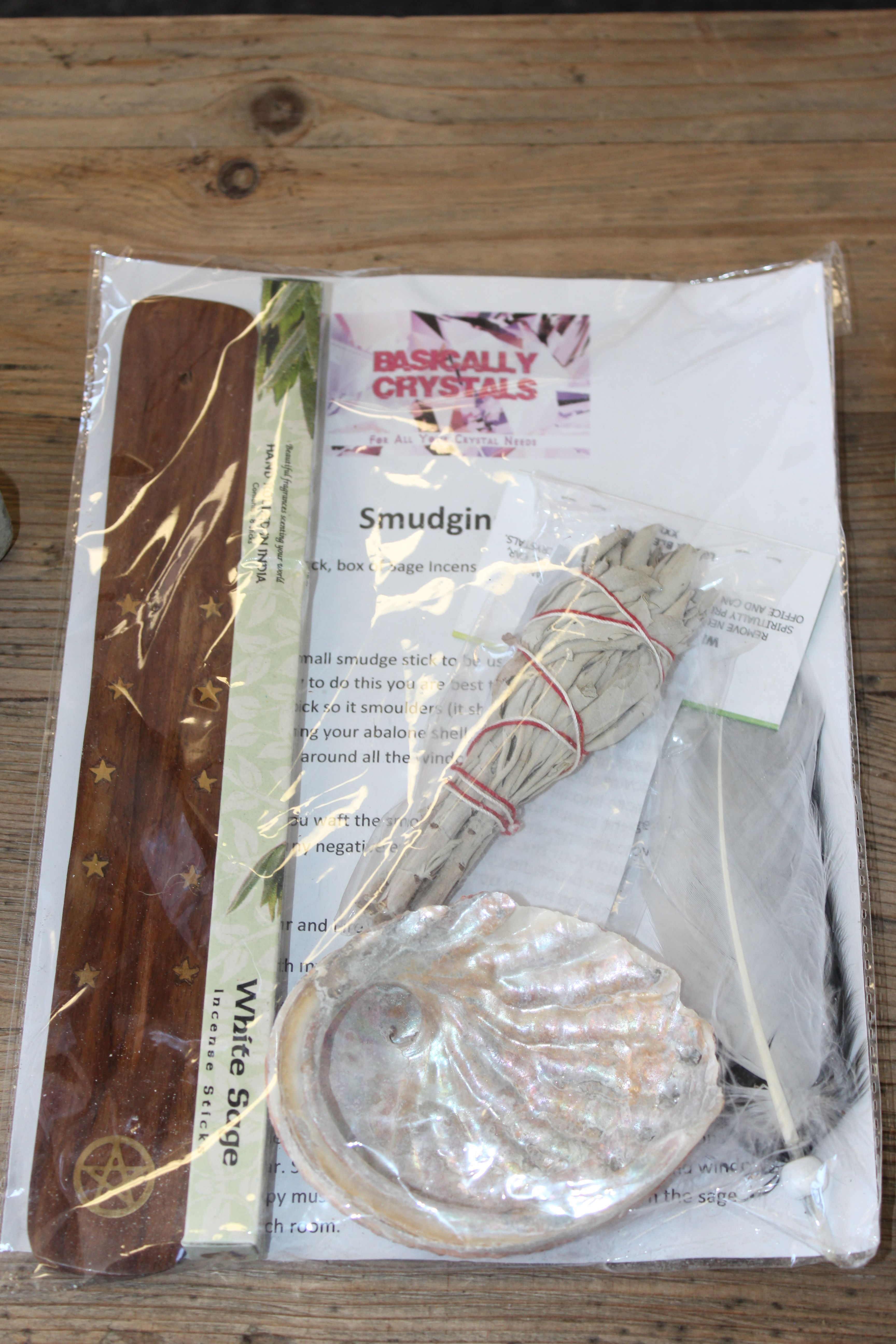 Large Smudge Kit Includes Small Smudge Stick Small Abalone