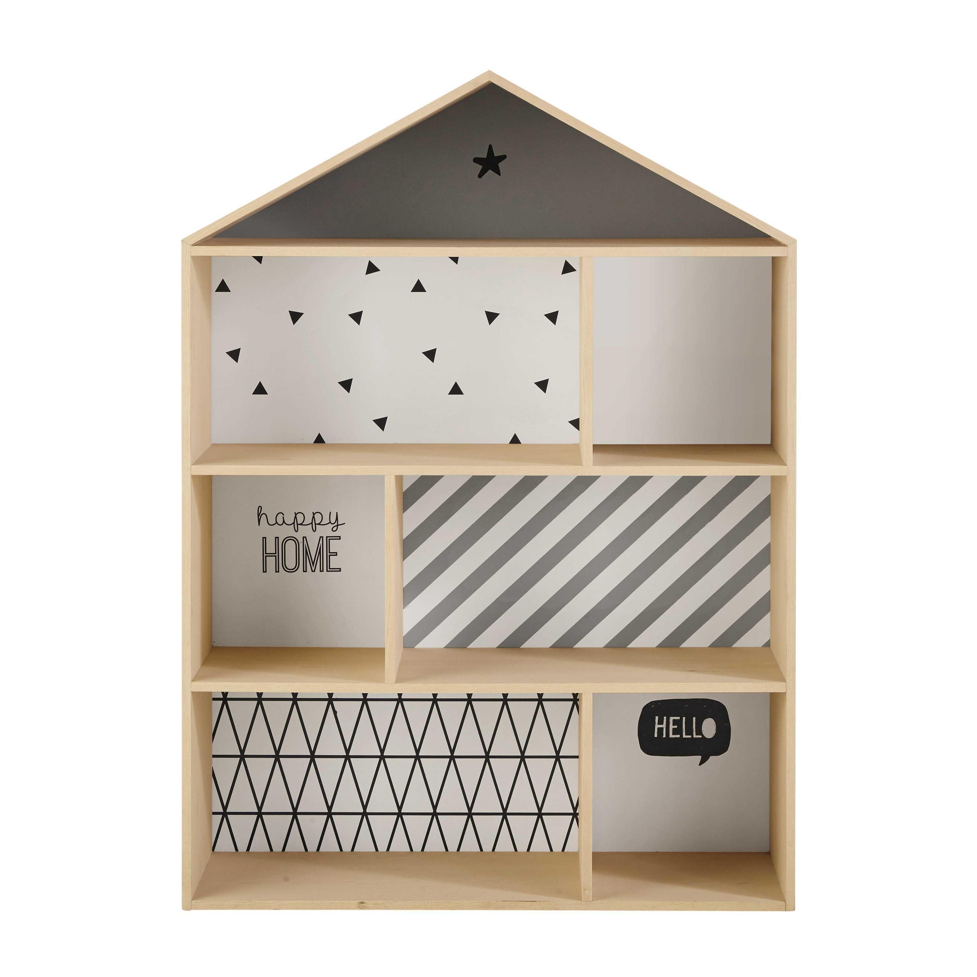 Bibliothèque maison enfant en bois L 102 cm Graphikids | chambre ...