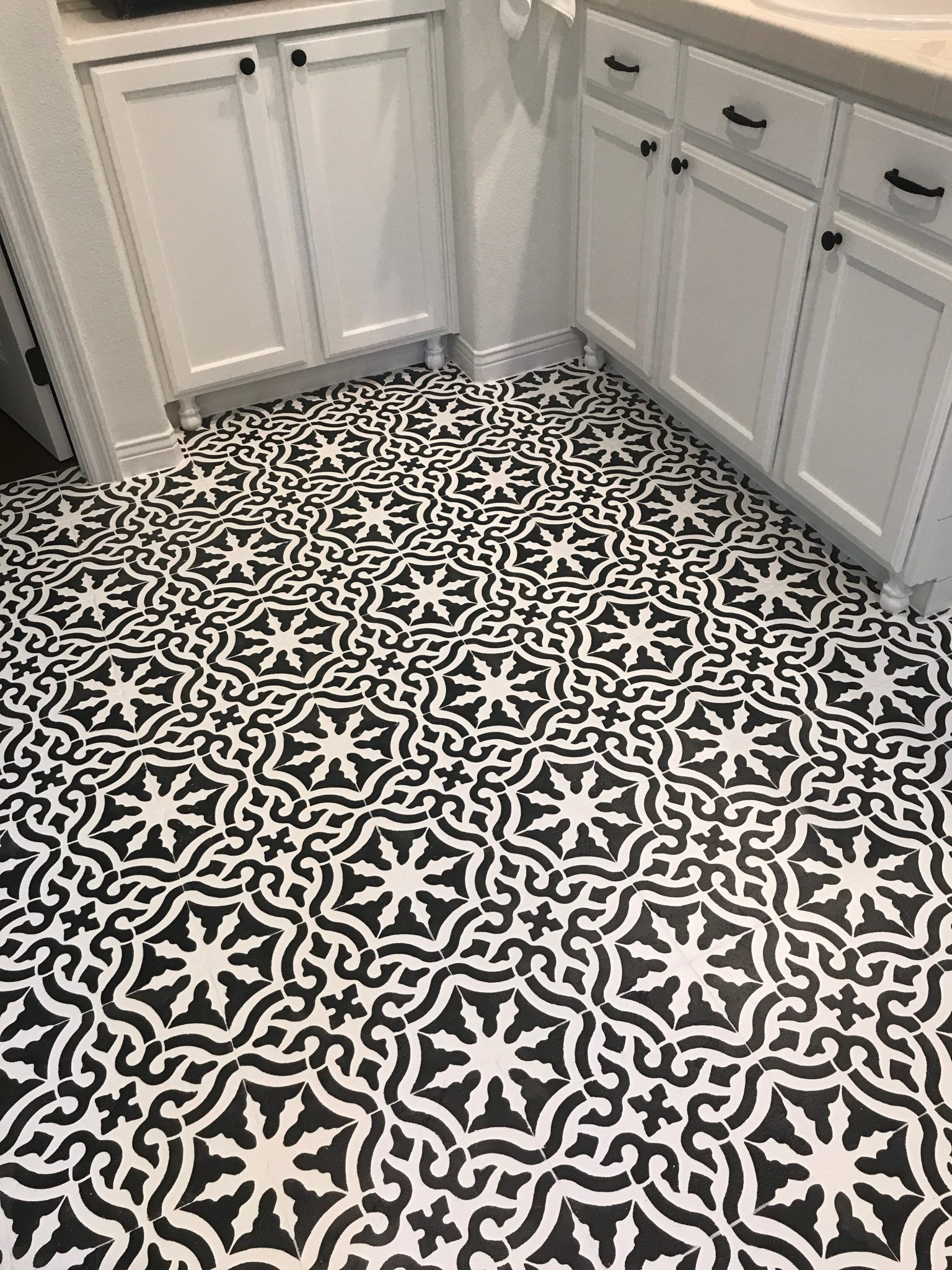 Toledo Tile Stencil Tiles Stenciled Floor Tile Floor