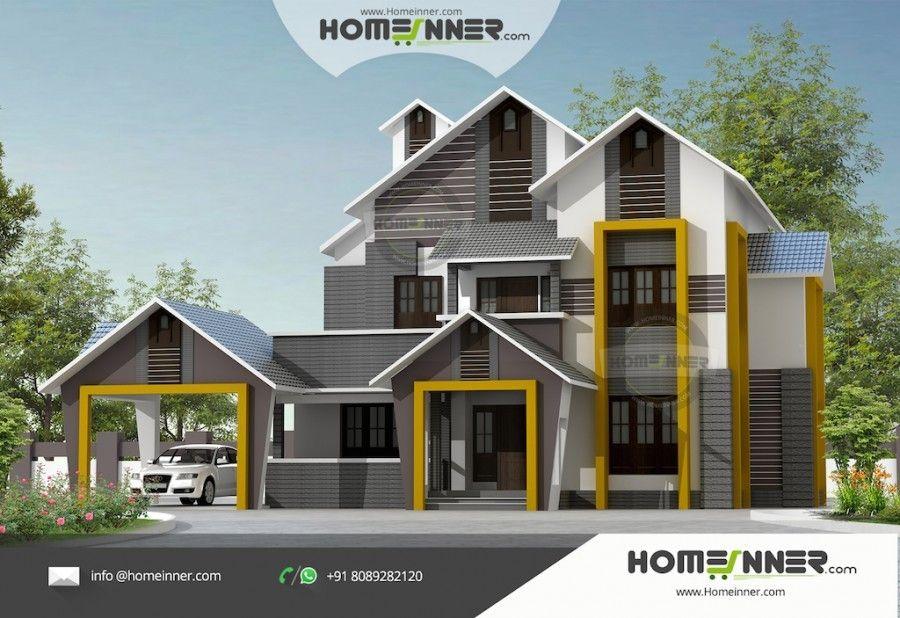 2400 Sq Ft 4 Bedroom New Model House Design New Model House Architectural House Plans Villa Design