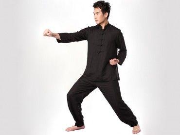 0791decbeb39 Tai Chi Clothing Half-sleeve Flax Black