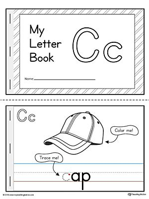 Letter C Mini Book Printable Letter Books Preschool