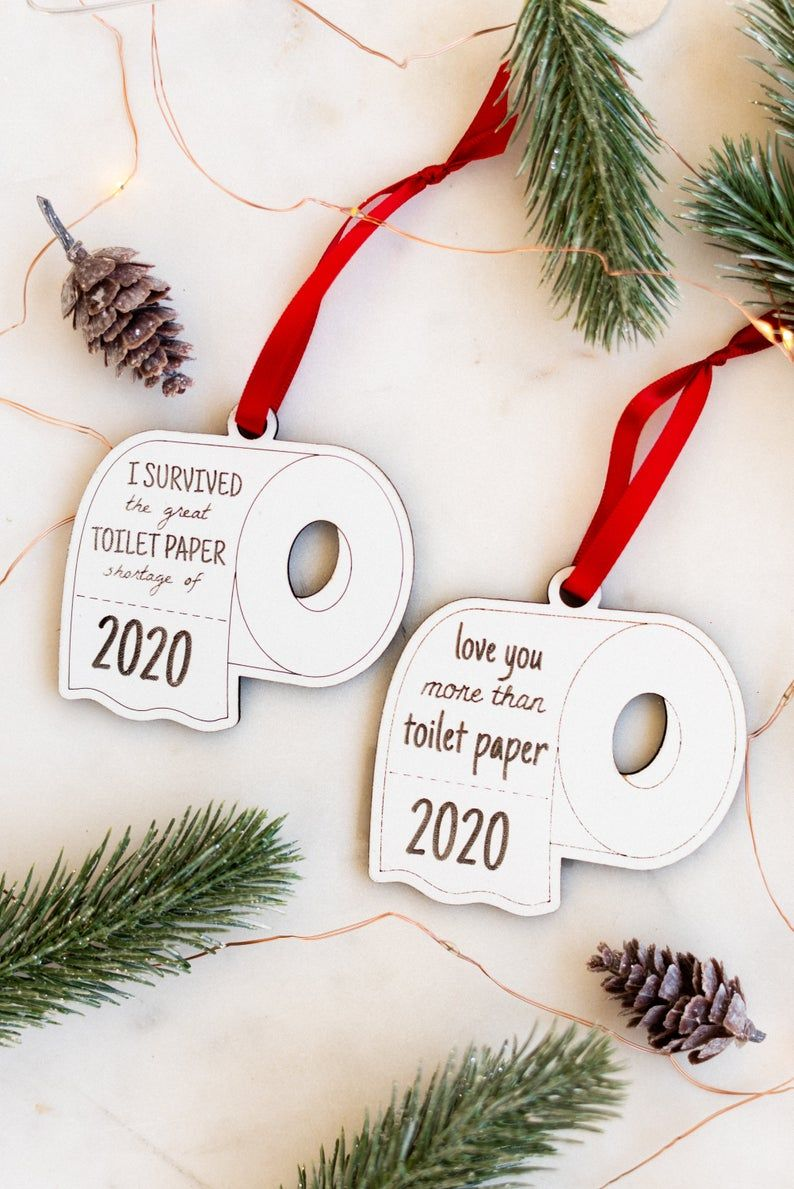 Christmas Ornaments 2020 Toilet Paper 2020 Christmas Ornament, White Elephant Gift, Funny
