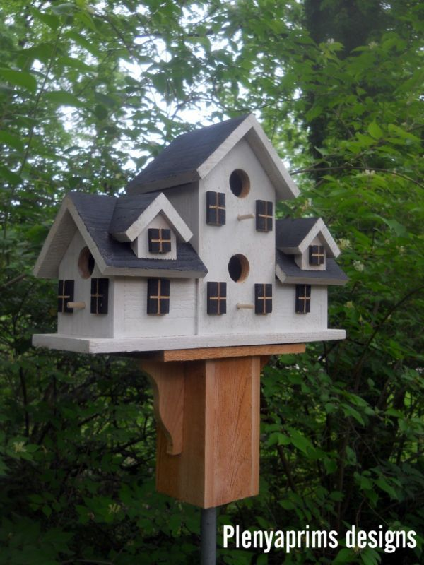 Birdhouse 4 Nest Folk Art Primitives Bird House Unique Bird Houses Cool Bird Houses Large Bird Houses