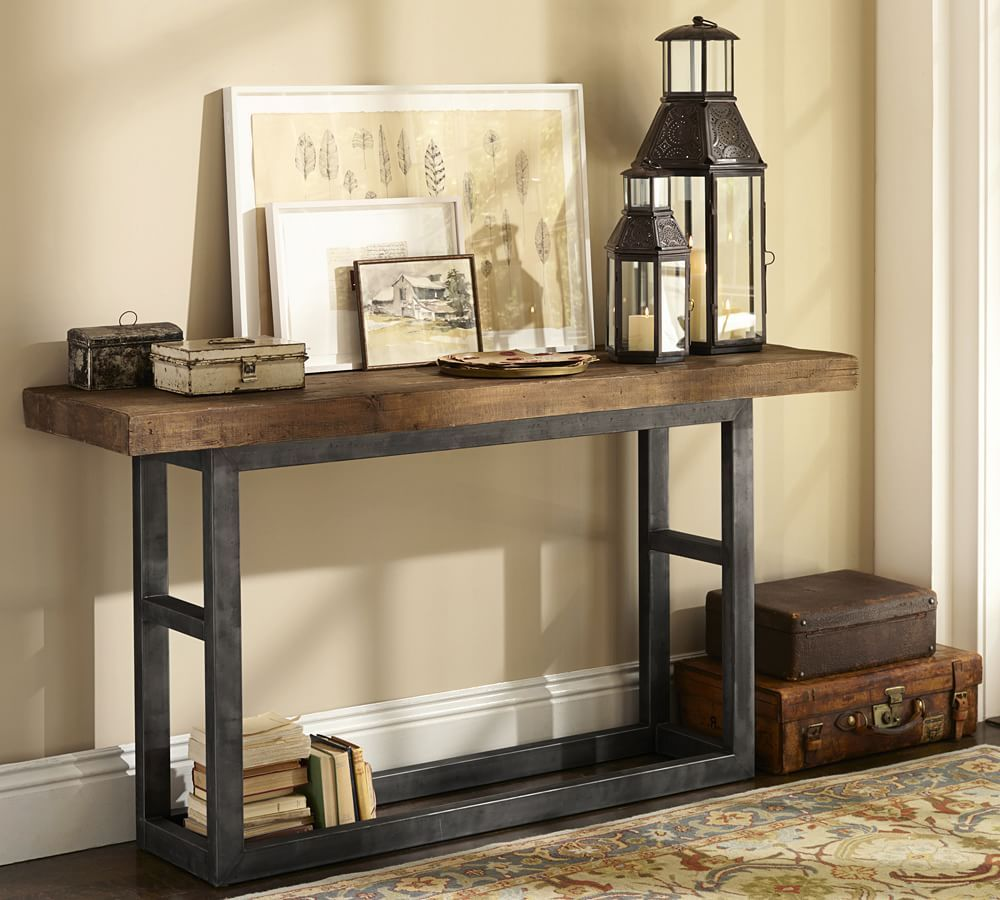Griffin Reclaimed Wood Coffee Table: Griffin Reclaimed Wood Console Table