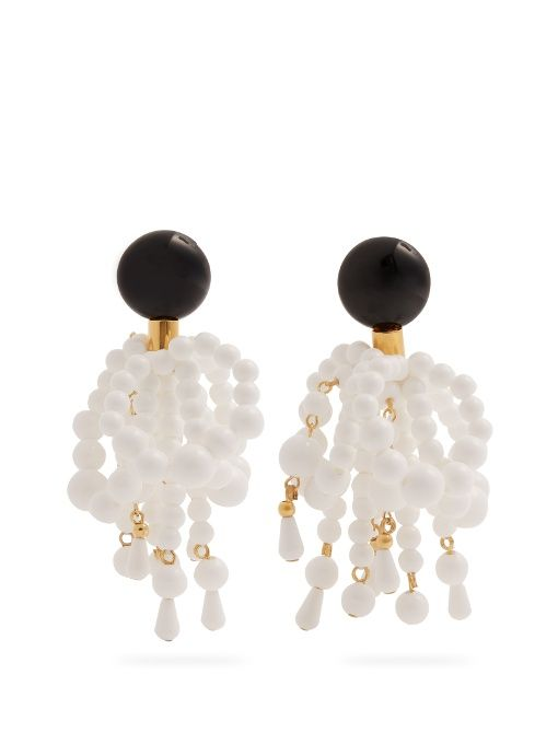 Bead-embellished clip-on earrings Marni