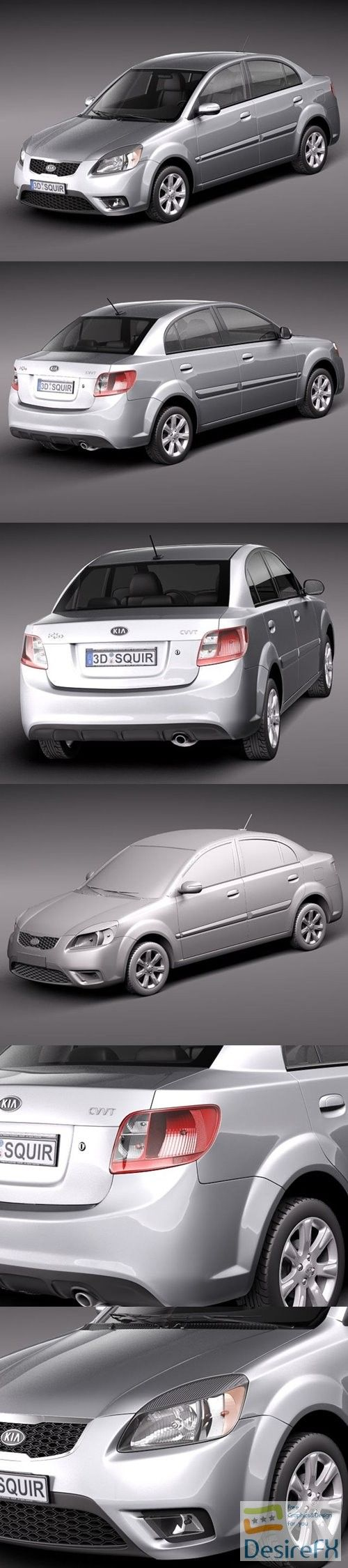 Pin By Gfxpiner On 3d Models Kia Rio Sedan Kia Rio Model