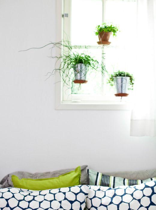 cr er un jardin suspendu avec des plantes en pot d co diy i d pinterest pot plante. Black Bedroom Furniture Sets. Home Design Ideas