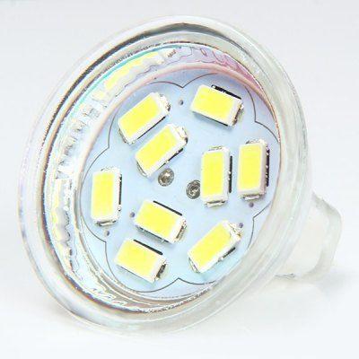 $2.47 (Buy here: http://appdeal.ru/b8yq ) MR11 SMD 5730 9 LEDs 3W 300Lm 6000 - 6500K Cool White LED Spot Bulb ( DC 12V ) for just $2.47