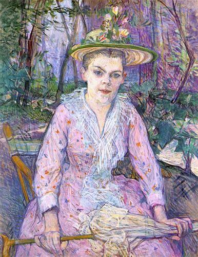 Woman with an umbrella - Henri de Toulouse-Lautrec