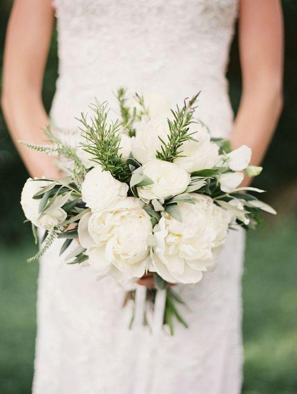 Bouquet Sposa Erbe Aromatiche.Bouquet Elegante Matrimonio Erbe Aromatiche Bouquet Di Peonie