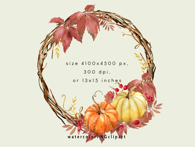 Fall Pumpkin Png Wreath Clipart Etsy Pumpkin Drawing Wreath Illustration Autumn Illustration