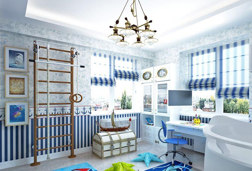 #KINDERZIMMER Designs Wohnkultur Trends 2017: Nautische Kinderzimmer # Dekoration #Schlafzimmer Ideen #