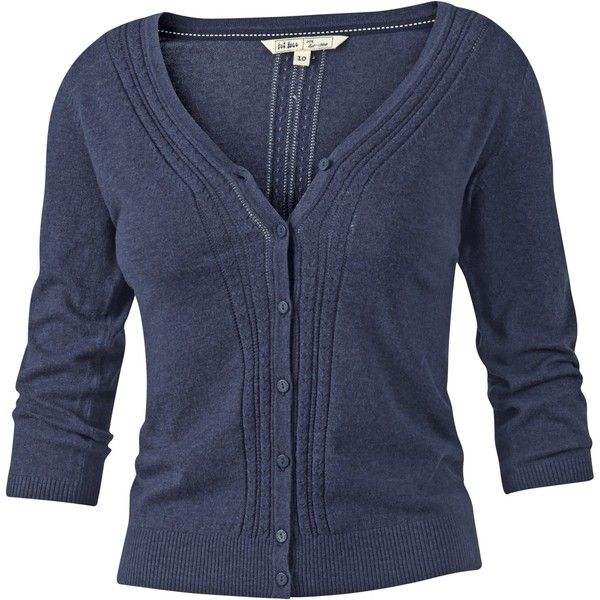 Fat Face Rose Cardigan (€26) ❤ liked on Polyvore featuring tops ...