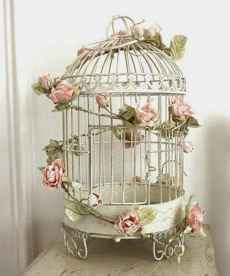 Jaulas de flores Inspiracin floral Pinterest Jaulas Flores y