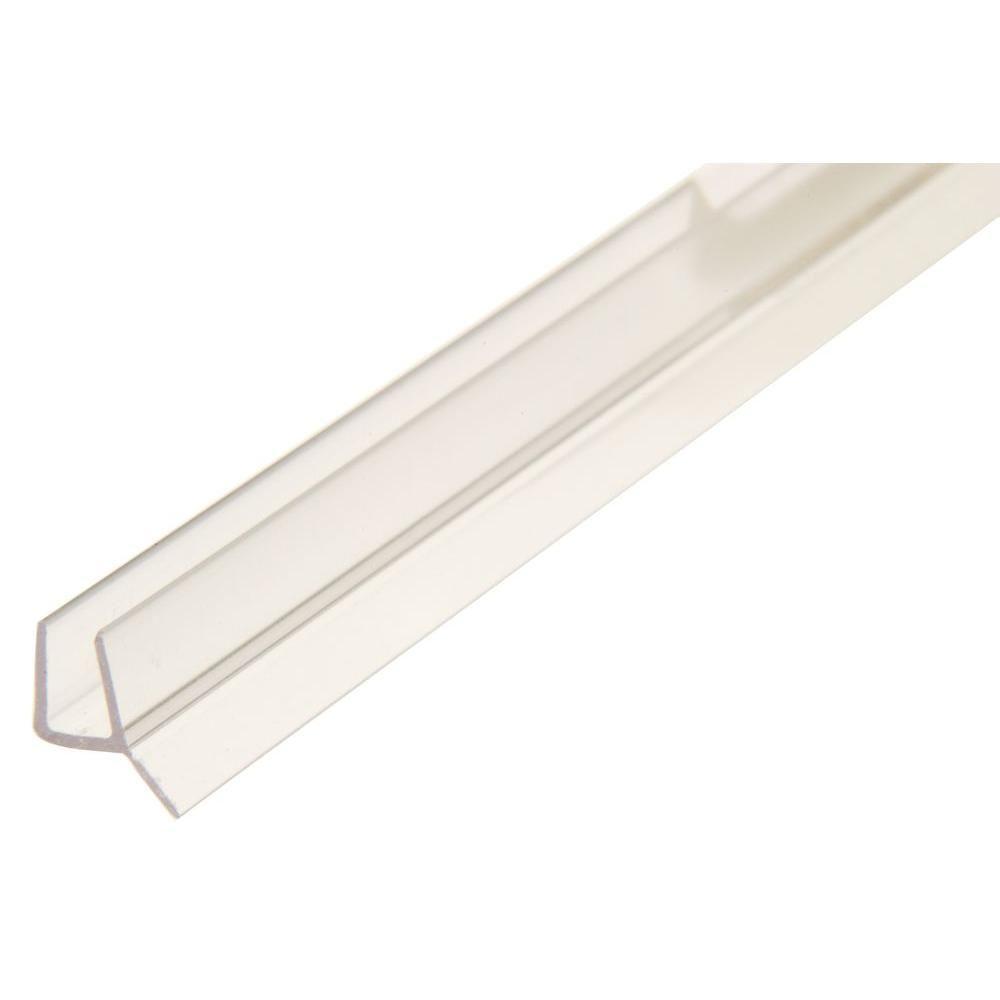 Showerdoordirect 98 In L Frameless Shower Door Seal With Wipe For 1 2 In Glass Clear Frameless Shower Doors Frameless Shower Shower Door Seal