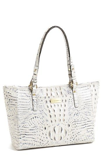 "Splurging...Bag ""Bling"" - Brahmin 'Medium Melbourne Arno' Croc Embossed Marble Tote...must have!"