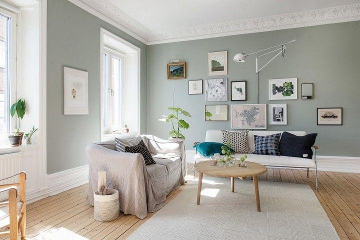 Déco scandinave aux murs colorés Salons, Living rooms and Interiors
