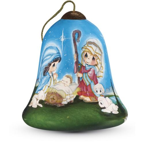 Precious-Moments-Oh-Holy-Night-Petite-Bell-Shaped-Glass-Ornament
