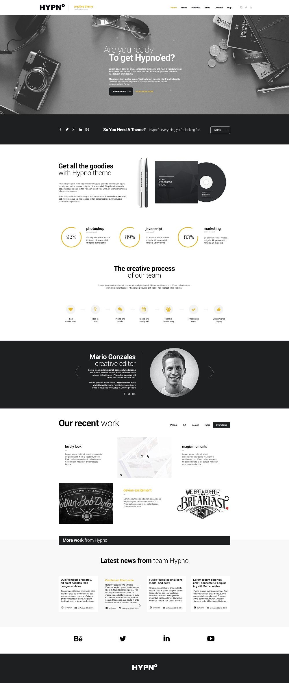 53 Best Minimal Simple Wordpress Themes 2019 Web Design Website Design Inspiration Web Design Trends