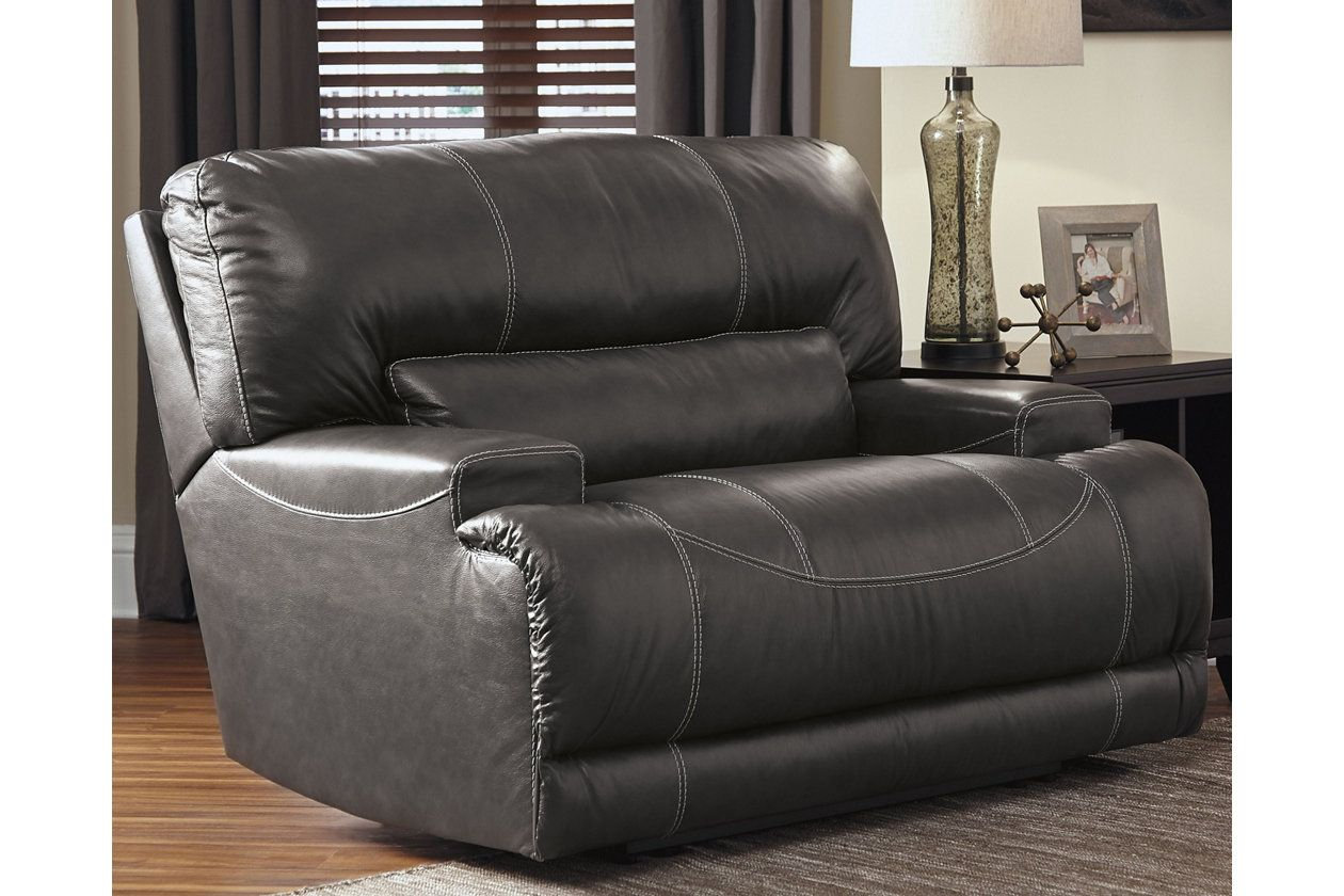 Incredible Mccaskill Oversized Recliner Gray Leather Products In Unemploymentrelief Wooden Chair Designs For Living Room Unemploymentrelieforg