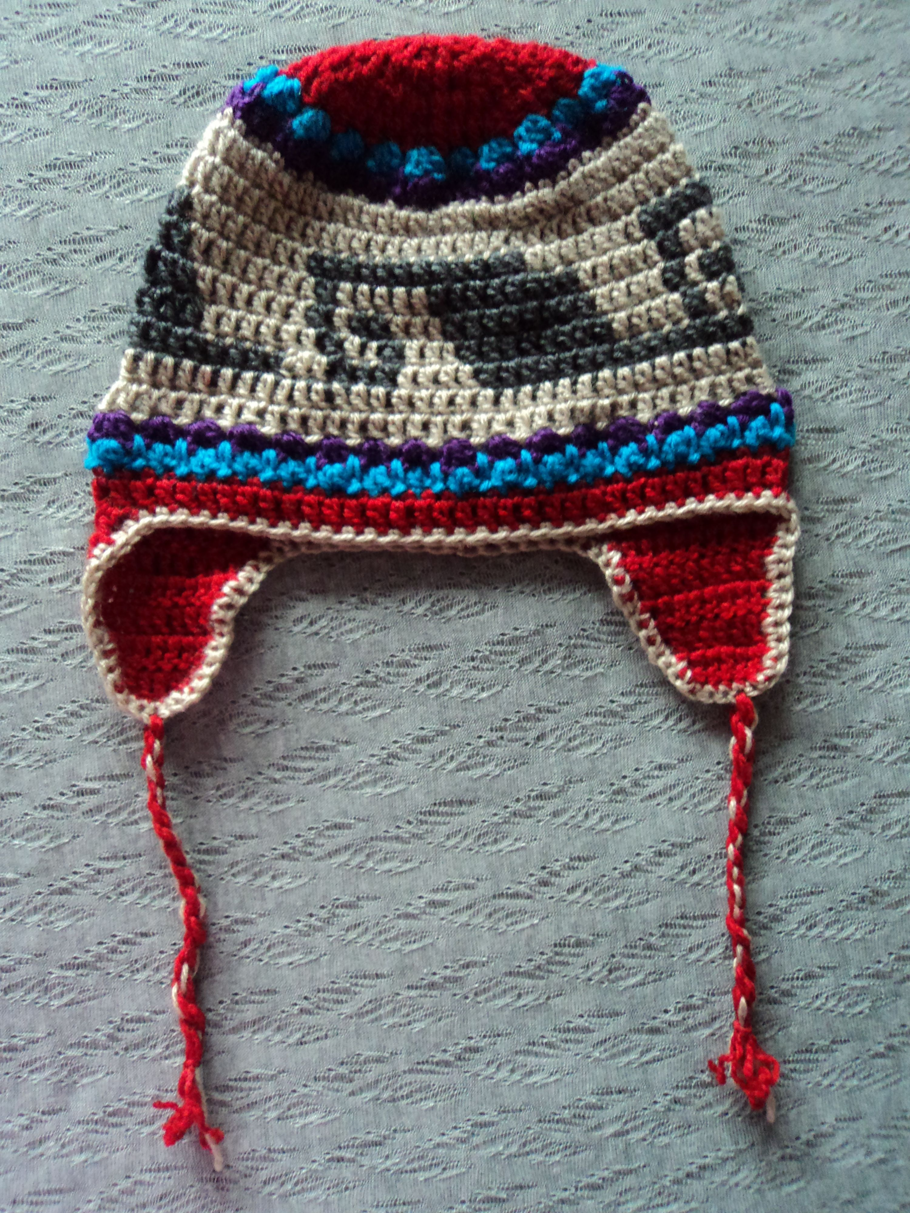 547f4ea9625e8 Gorro peruano crochet