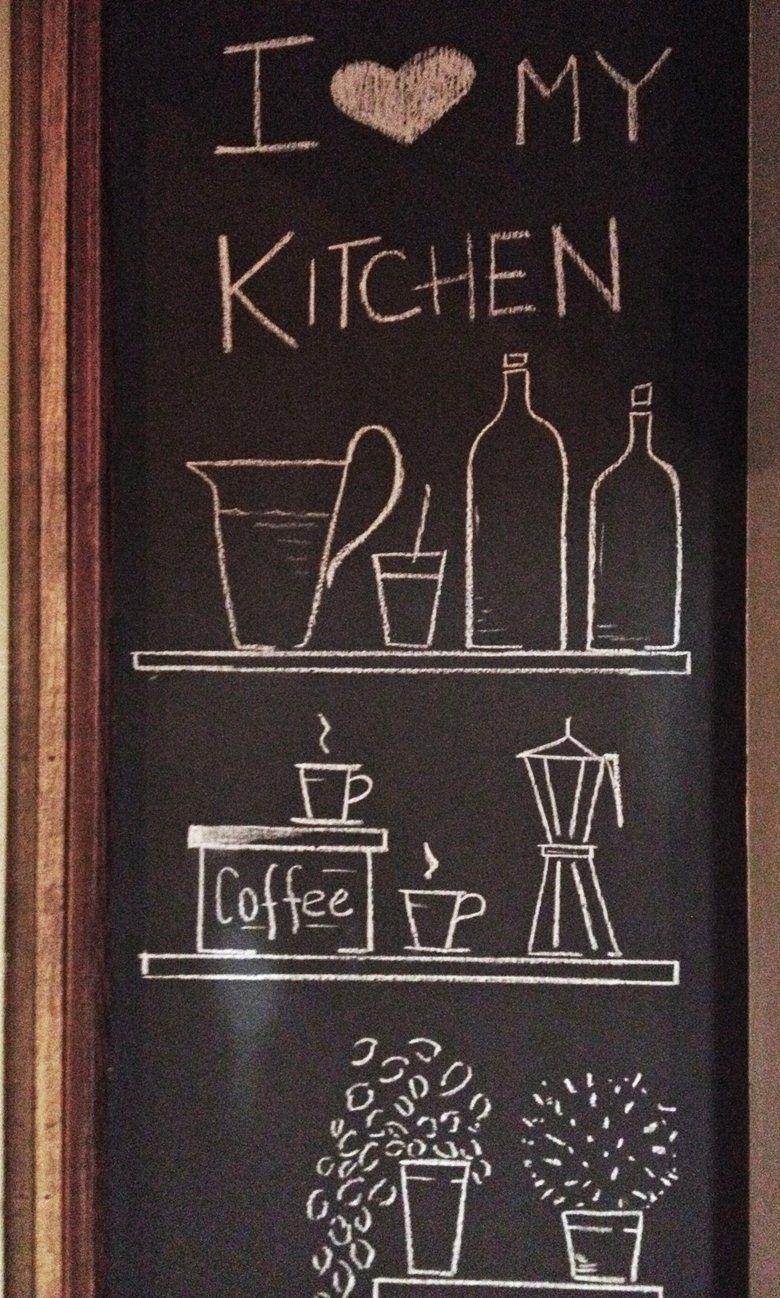 Lavagna Da Parete Cucina una parete lavagna per creare, inventare ogni giorno! non