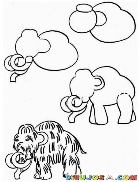 Clases De Dibujo Gratis Como Aprender A Dibujar Un Mamut Para Pintar Y Colorear Colorear Como Apre Como Aprender A Dibujar Aprender A Dibujar Dibujos Gratis