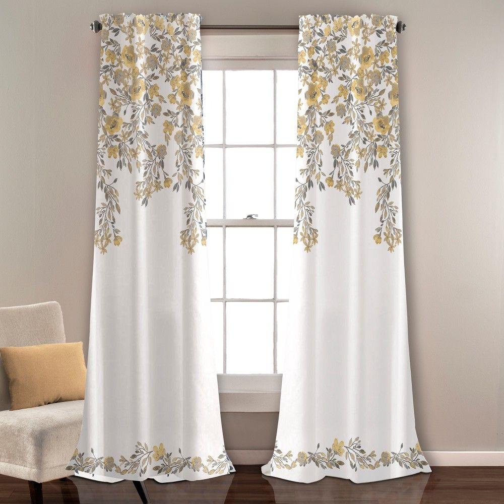 Set Of 2 84 X52 Tanisha Room Darkening Window Curtain Panels