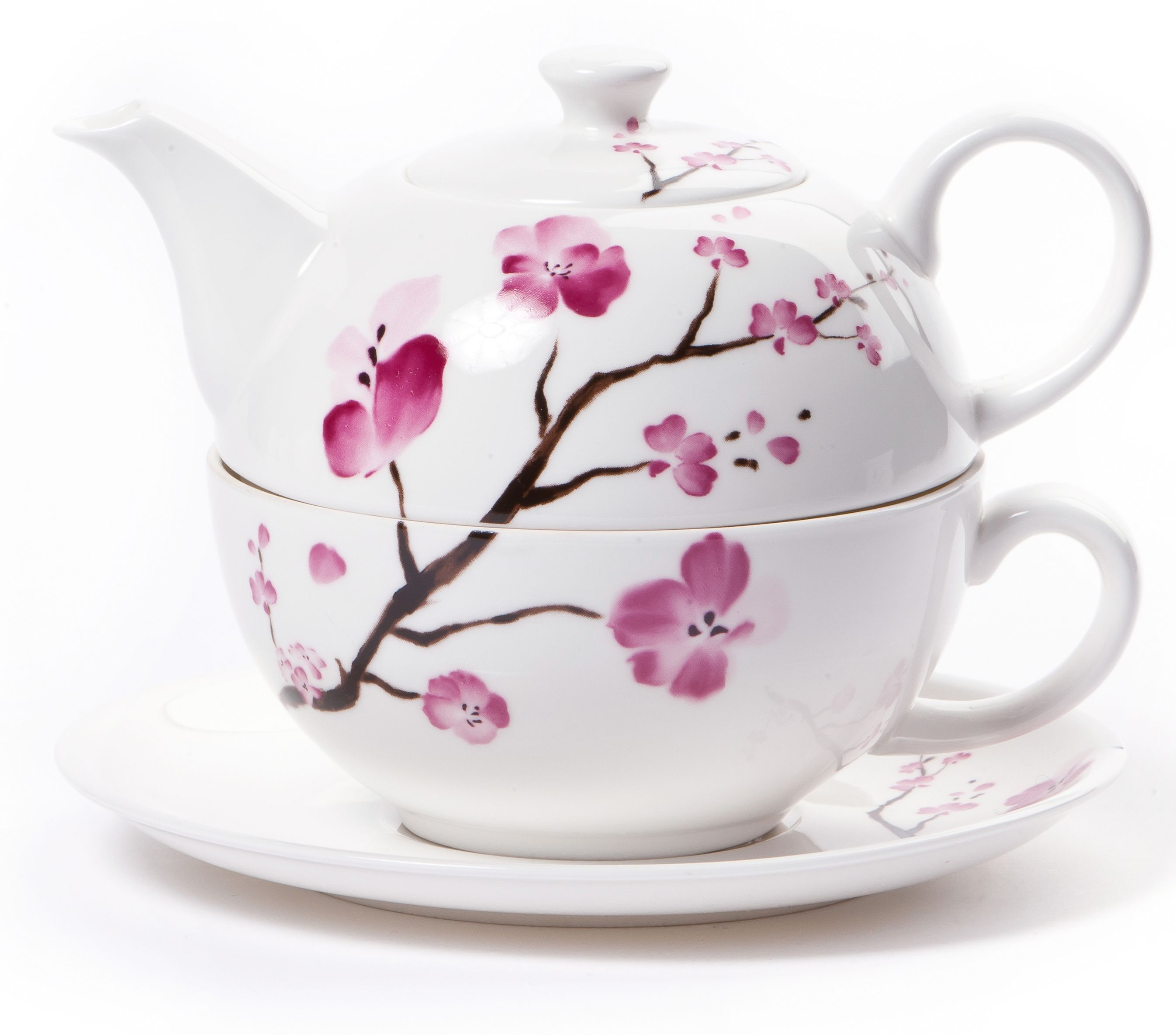 Teapot With Cup Cherry Blossom Tea For One Teapot The Tea Makers Of London Tea