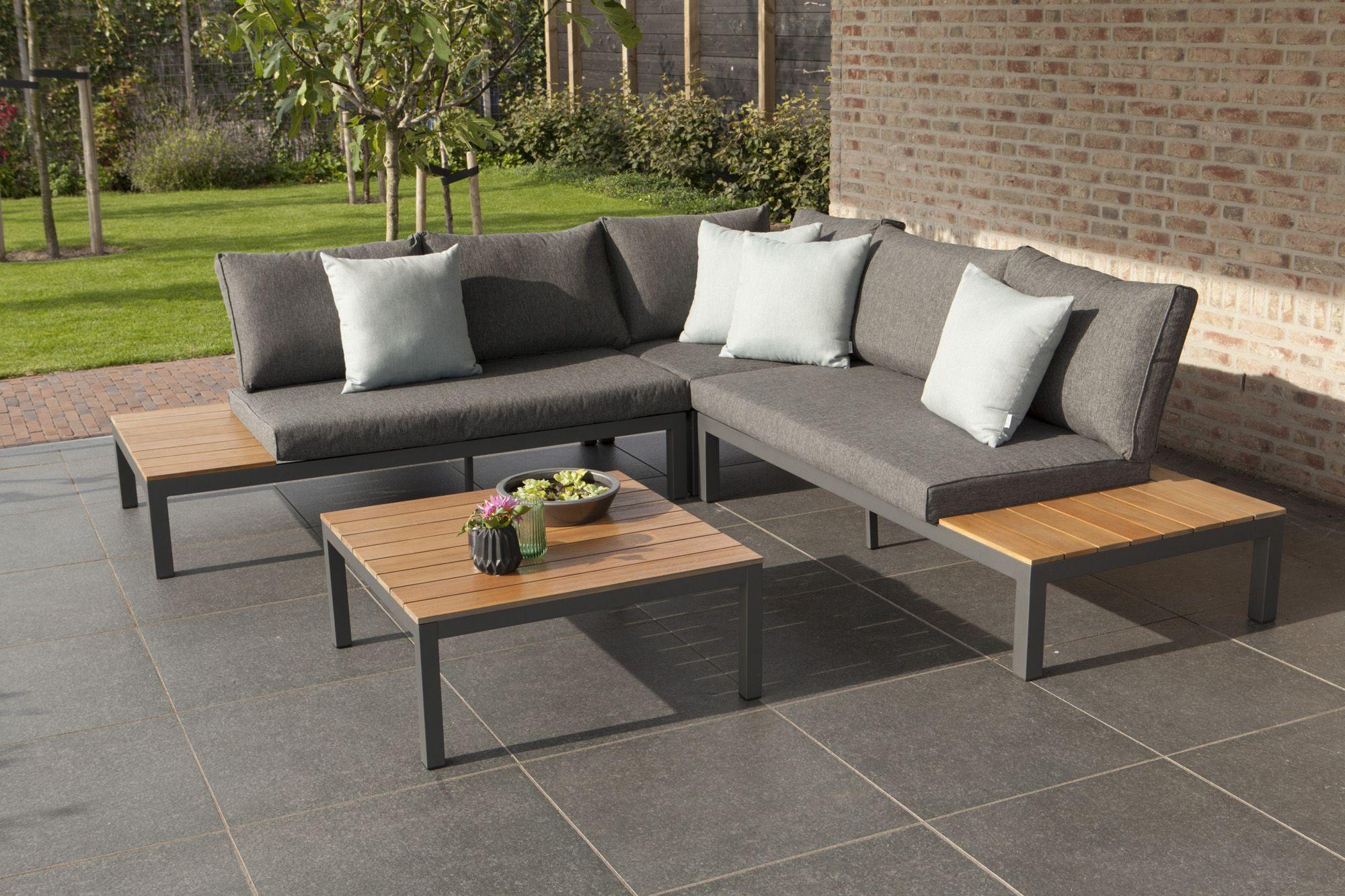 Villa Lounge Set Anthracite Sunbrella® Aluminium Teak Fsc® U0026 Quick Dry Foam