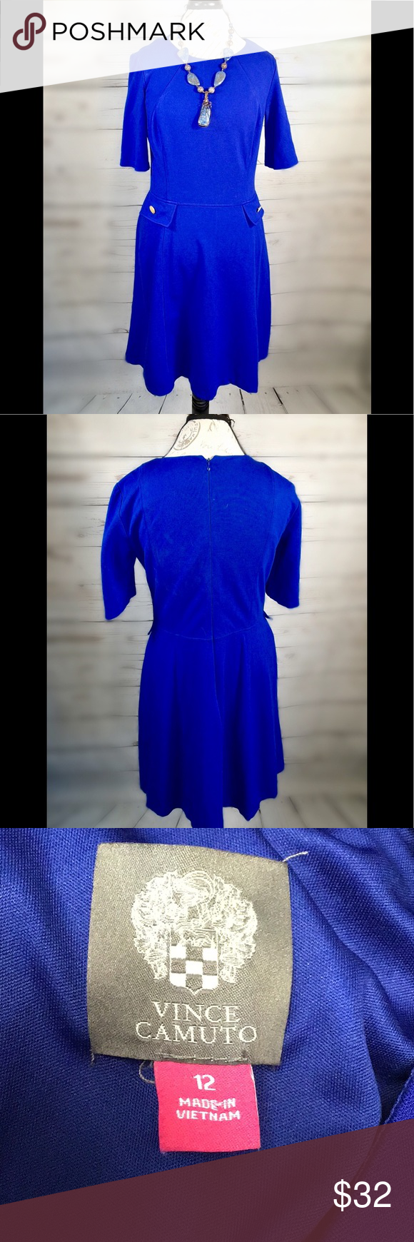 Vince Camuto Work Party Lux Comfy Stretch Royal Blue Dresses Royal Blue Dress Work Party [ 1740 x 580 Pixel ]