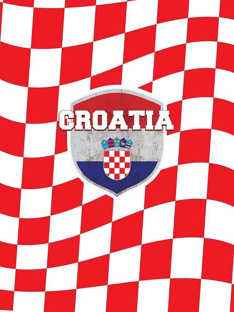8fdf198c0 Croatia Soccer Hrvatska Checker style Sport Supporting tshirt!