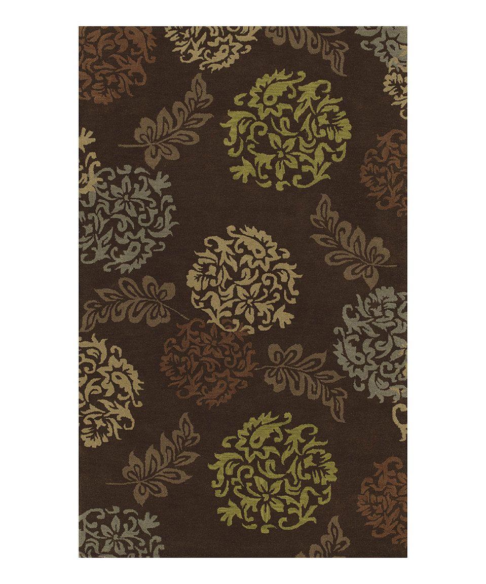 Look at this #zulilyfind! Dalyn Chocolate Bouquets & Fronds Berkley Wool Rug by Dalyn #zulilyfinds