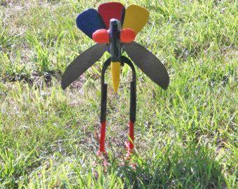 Spark Plug Flower Stake Metal Sculpture Yard Art Garden Art | Etsy