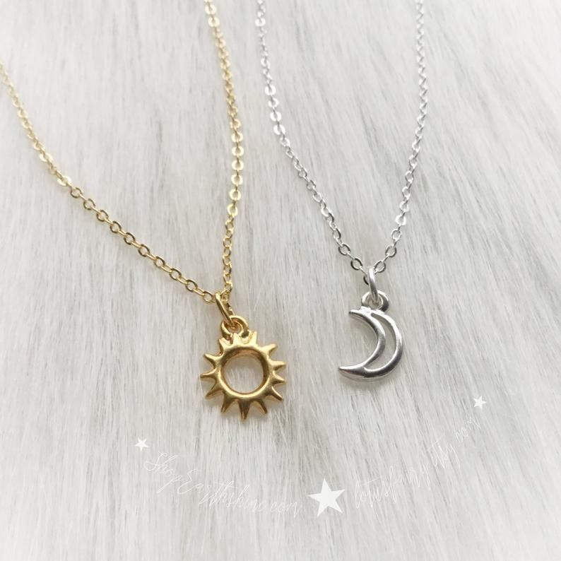 Pave Diamond Enamel Starbust Pave charms Sun Pendant 925 Sterling Silver Pave Diamond moon necklace Pave Diamond Starburst Necklace