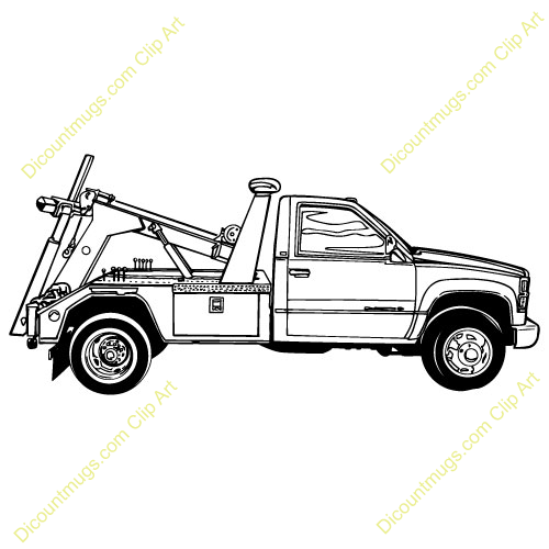 Tow Truck Clip Art Clipart 15004 Towtruck Towtruck Mugs T Shirts Picture Mouse Pads Truck Accessories Truck Coloring Pages Truck Tattoo