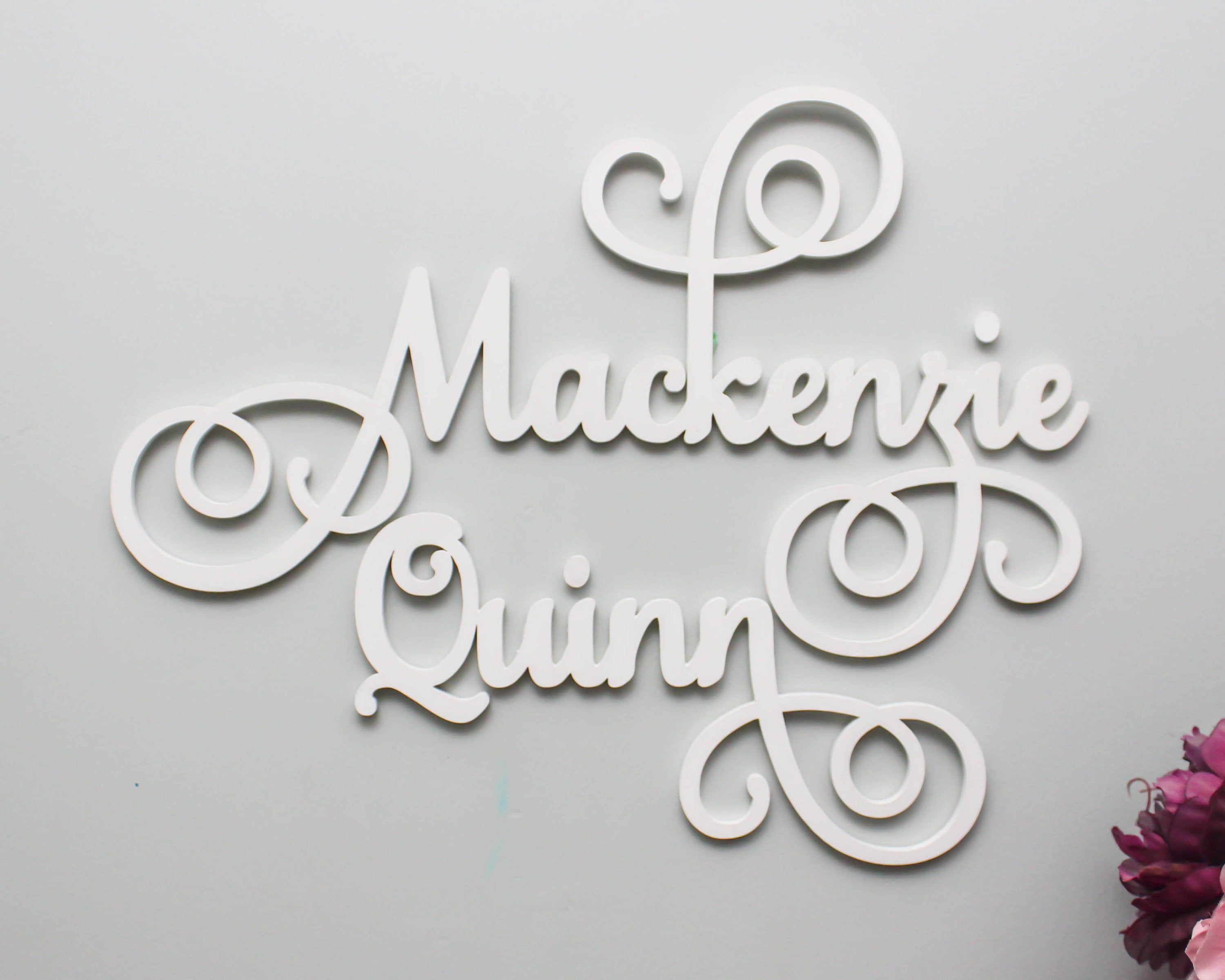 First and Middle Name Sign, Double Name Sign, Baby Nursery